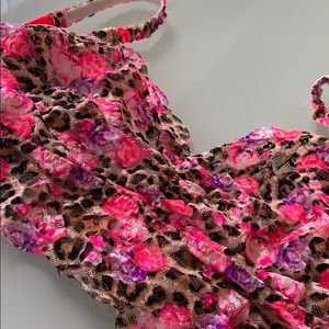 Victoria's Secret PINK cheetah lace bralette